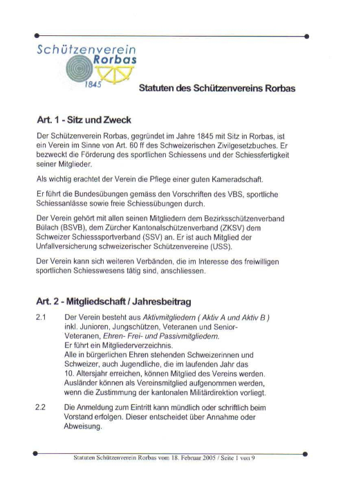 Statuten Seite 1